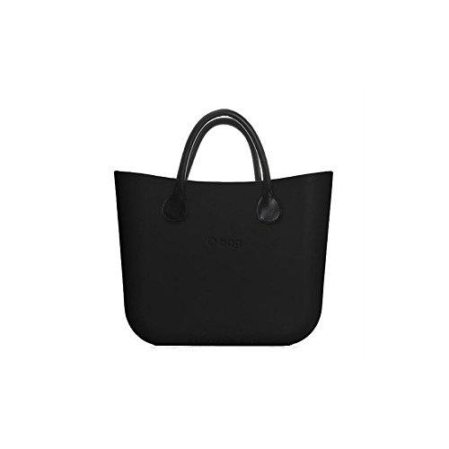Borsa O Bag Mini nera manici eco pelle e sacca