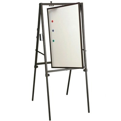 Rotating Surface Portable Easel-Magnetic Whiteboard w Adjustable Height
