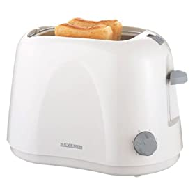 220 Volt Severin 2583 2 Slice Toaster White, WILL NOT WORK IN THE USA