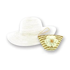 Sun Lily Sun-On-The-Run Foldable Sun Hat for Women – with Carry Case (White)