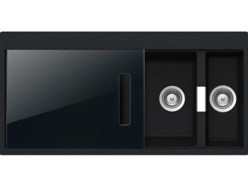 Schock Horizont D-150 A S Magma Granit Spüle Schwarz Auflage Küchenspüle Einbau