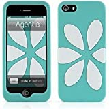 Agent18 FlowerVest Cover für Apple iPhone 5 - Türkis / WeiÃ