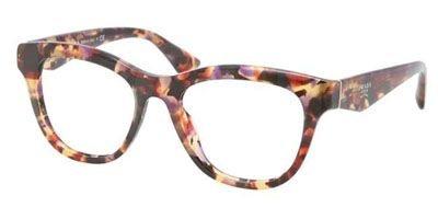 pradaPrada PR04QV Eyeglasses-PDN/1O1 Spotted Havana Pink-51mm