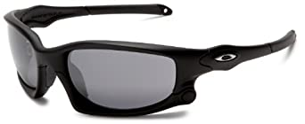 Oakley Men's Split Jacket Iridium Sport Sunglasses,Matte Black Frame/Black and G40 Lens,one size