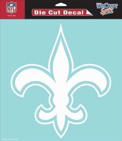 New Orleans Saints 8x8 Die Cut Window Cling