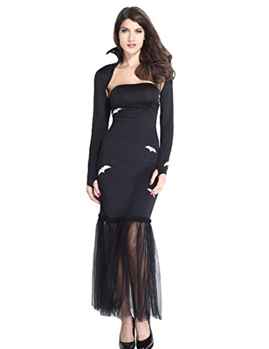 MFrannie® Women's Halloween Strapless Bat Witch Vampire Queen Bodycon Costume