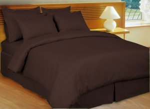 Egyptian Cotton Flat Sheet Hotel Quality - Double Size Chocolate (dark Brown)