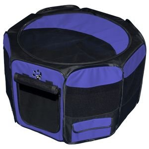 Pet Gear Travel Lite Soft-Sided Pet Pen with Removable Top (29.0L x 29.0W x 17.0H - 30 lb capacity, Lavendar)