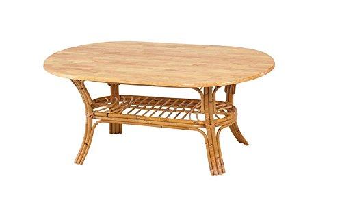 Table de salle à manger en rotin et bois