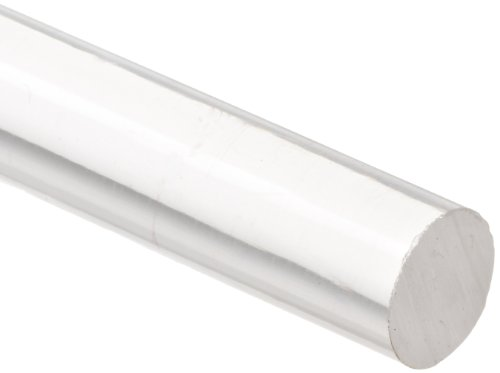 "American Educational Acrylic Friction Rod, 3/8"" Diameter, 10"" Length (Bundle of 5)"