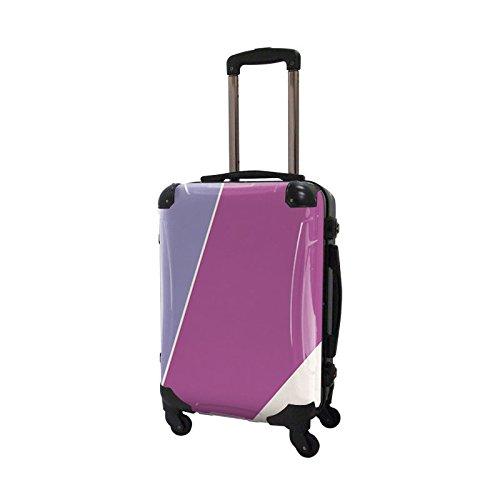 キャラート アートスーツケース ベーシック シューティカルコーデ (バイオレット チューリップ×ラディアント・オーキッド) フレーム4輪 機内持込 CRA01-034F