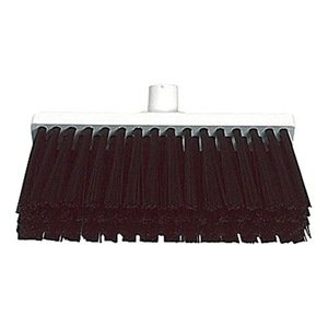 Push Broom, Stiff Polyester, 3x12 In. Blck