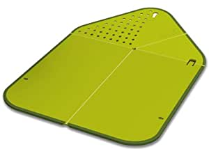 Joseph Joseph Rinse and chop Chopping Board and Colander, Green