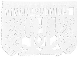 Wedding Papel Picado Banner - White by Amols Specialty Inc.