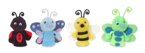 Darice Felt and Foam Bug Finger Puppet Kit