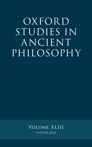 Oxford Studies In Ancient Philosophy: Volume 43