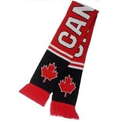 Double Jacquard Knitted Soccer Scarf - Canada, Maple Leaf (Canada Soccer compare prices)