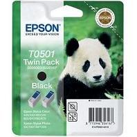 Epson Stylus Photo 750 EX 3 - Original Epson C13T05014210 / T0501 - Cartouche d'encre Noir (Double Pack) -