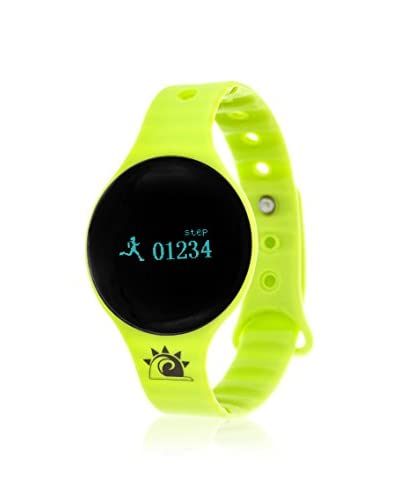 Zunammy Women's NWTR022GR Watch with Activity Tracker, Call & Message Reminders, Green Rubber