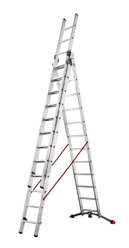 Hailo 150 Kg Profi Combination Ladder, 3 x 12 Rungs