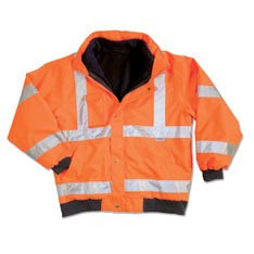 Ergodyne GloWear 8380 ANSI High Visibility Orange Thermal Bomber Jacket, Medium