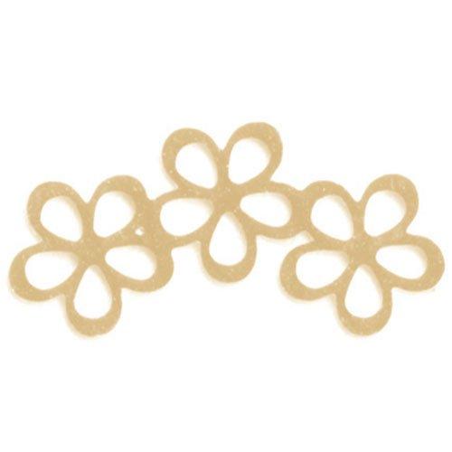 リトルプリティー シャイニーフラワー3連スカシ ゴールド 10個 LPー0605G
