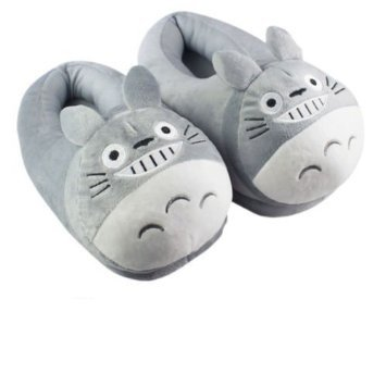 My Neighbor Totoro Cartoon Plush Indoor Bedroom Winter Warm Slipper 11