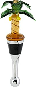 LSArts Wine Bottle Stopper, Palm Tree