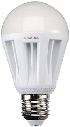 Toshiba LED-Lampe 7W ersetzt 40W E27 in Normallampenform, warmweiß (827) LDAC0727E7EUC