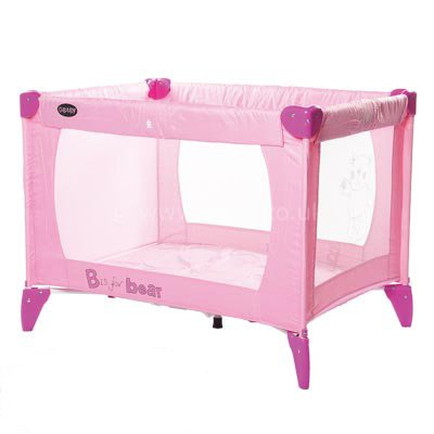 OBaby Travel Cot Pink