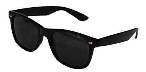 Black Lens Wayfarer Style Sunglasses - Unisex