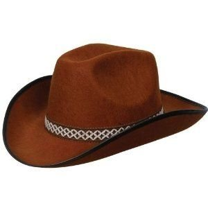 Wicked - Cappello da cow boy da rodeo, unisex, colore: Marrone