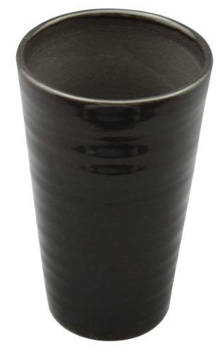 信楽焼 うま泡ビアカップ (冷やしてビールを注ぐだけで、生ビールの様なクリーミーな泡が! ) ブラック