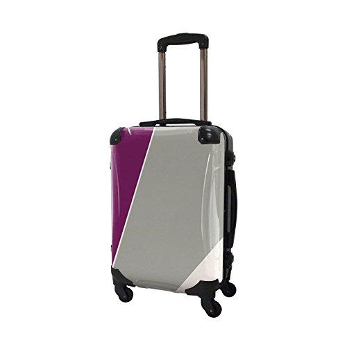 キャラート アートスーツケース ベーシック シューティカルコーデ (マゼンタパープル×パローマ) フレーム4輪 機内持込 CRA01-034C
