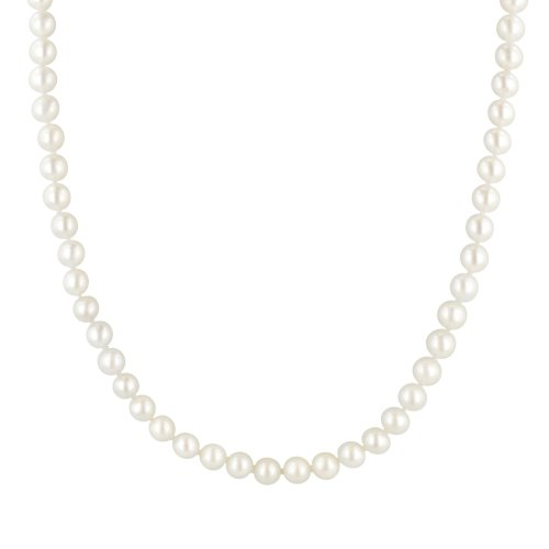 14k Yellow Gold 5.5-6mm White Freshwater Cultured AA Quality Pearl Necklace, 20