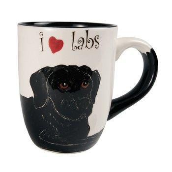 Pavilion Rescue Me Now Black Labrador Mug, Shadow, 12-Ounce, 4-1/4-Inch