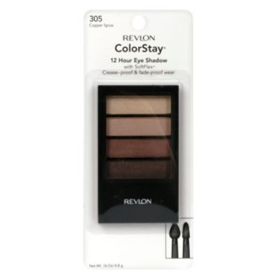 Revlon Colorstay 12 Hour Eye Shadow Quad, 305-Copper Spice