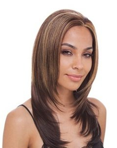 Shake-N-Go FreeTress Equal Synthetic Hair Lace Front Wig - Keyshia (Color: 1B)