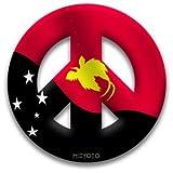 Peace Symbol Window Cling of Papua New Guinea Flag
