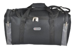 Mens Womens Small Holdall Hand Luggage Cabin Flight Bag RYANAIR 54x30x20cm (Black) from Greensitts