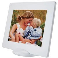 Pictronic Illuminated Flat Screen Photo Frame for a 5x7 Picture, White Plastic