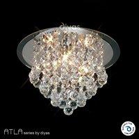 Atla kronleuchter decke 4 light chrom kristall leuchte for Kristall leuchte