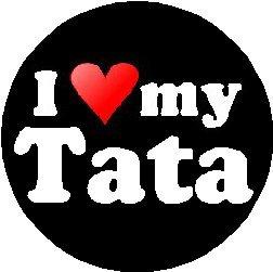 "Amazon.com: I Love My Tata 1.25"" Magnet (heart): Kitchen & Dining"