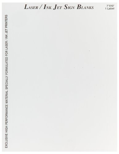 "Brady 12902 7"" Height, 10"" Width, B-744 Laser Printable Polyester, White Color Sign And Label Blanks (Pack Of 25)"