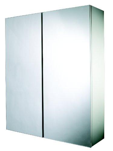 Croydex Alaska 2 Door Hang 'N' Lock Mirror Cabinet (FSC MDF), White