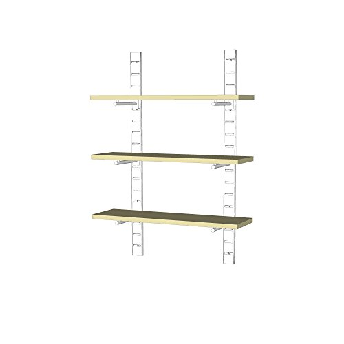 UDIZINE Modern Metal Shelving Unit - Wall Mounted - Great Choice for Your Home & Office - For 3 Wood Shelves (Shelves Not Included) (Metal Shelving Wall Unit compare prices)