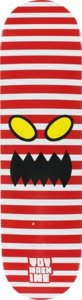 Toy Machine Monster Face Stripes Red / White Skateboard Deck - 8.12