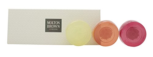 Molton Brown Precious Gem Soap Confezione Regalo 100g Sapone Orange & Bergamot Citrine + 100g Sapone Gingerlily Fireopal + Sapone Pink Pepperpod Sapphire