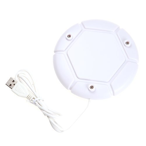Portable Usb Power Beverage Cafe Pad Panel Coffee Mug Tea Cup Heater Warmer Heating (White)