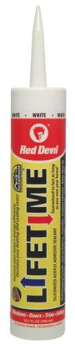 Red Devil 0856 Lifetime Adhesive Sealant 10.1-Ounce Cartridge, White